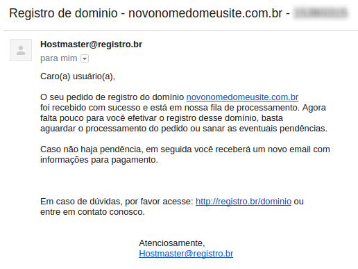 passo 4 - registro.br - email confirmacao pedido