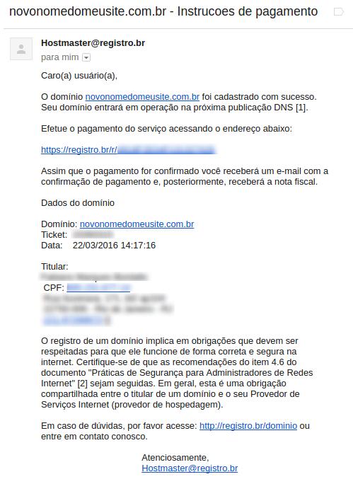 passo 5 - registro.br - segundo email confirmacao pedido