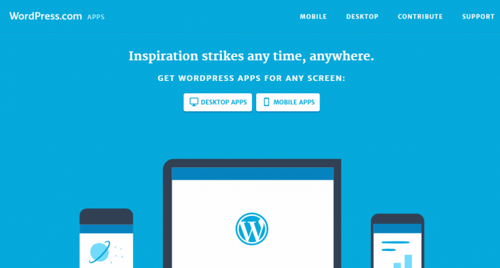 Apps mobile e desktop para WordPress