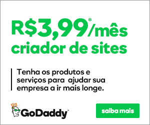 godaddy criador de sites por R$ 3,99