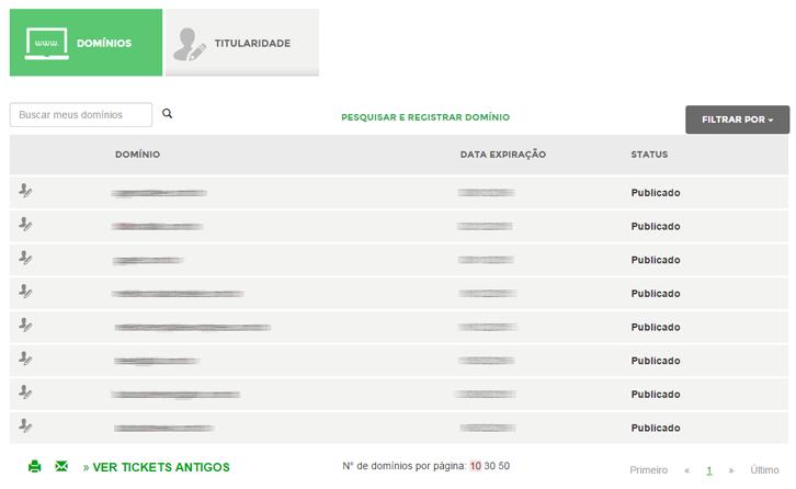 registro.br listagem de domínios