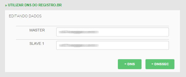 valores dns registro.br