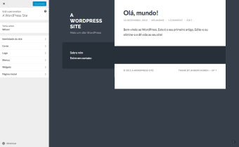 hospedagem wordpress godaddy - tela blog 1
