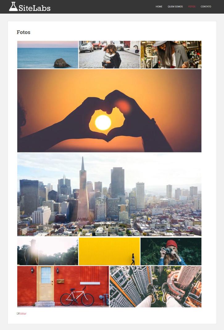 criar uma galeria de fotos