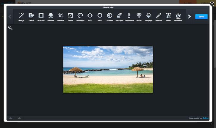 UOL Site Pronto - editor de imagens