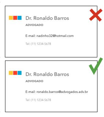 cartao de visita e-mail profissional