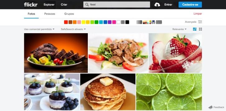 banco de imagens flickr