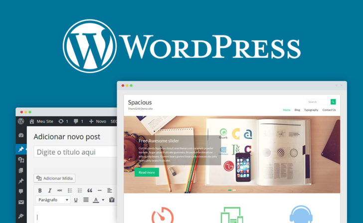 wordpress criador de sites