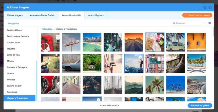 Editor de Site Wix banco de imagens