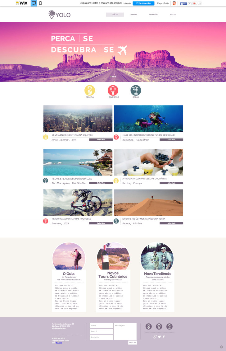 Template site WIX