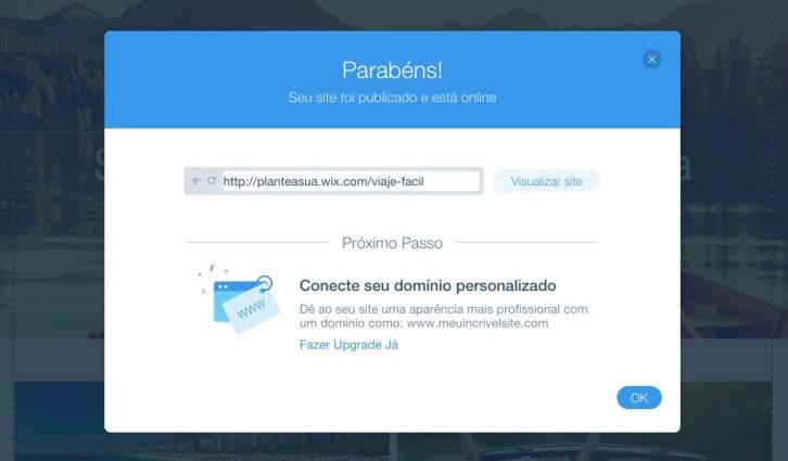 Publicar site Wix