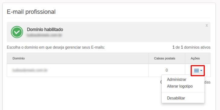 administrar e-mail Blog UOL Host