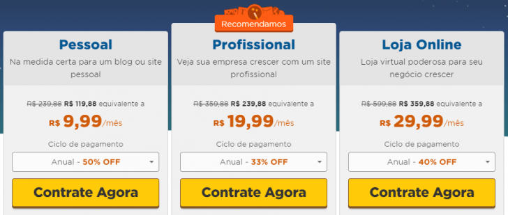 HostGator Blog planos