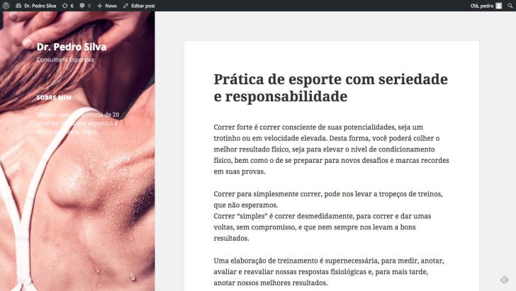 passo 7 edicao conteudo site wordpress