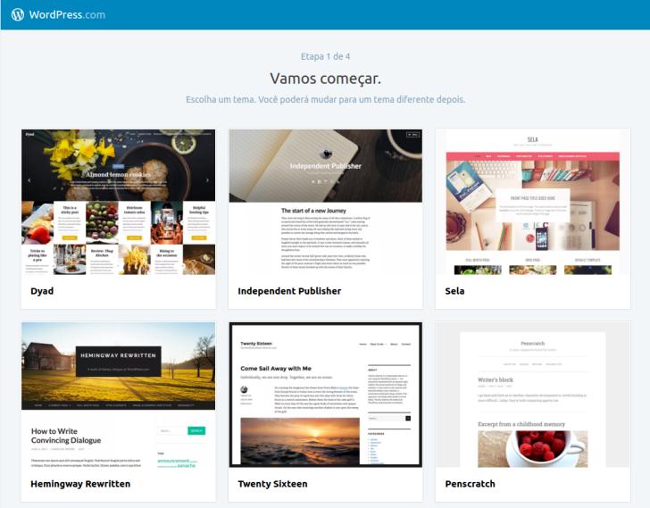 wordpress.com criar um blog