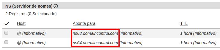 valores DNS GoDaddy