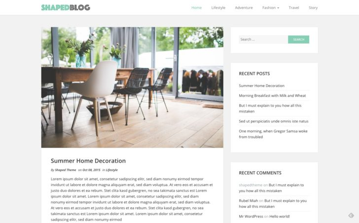 tema blog wordpress