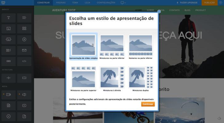 Weebly apresentação de slides