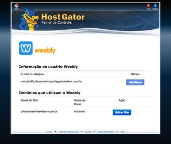 HostGator cPanel Weebly