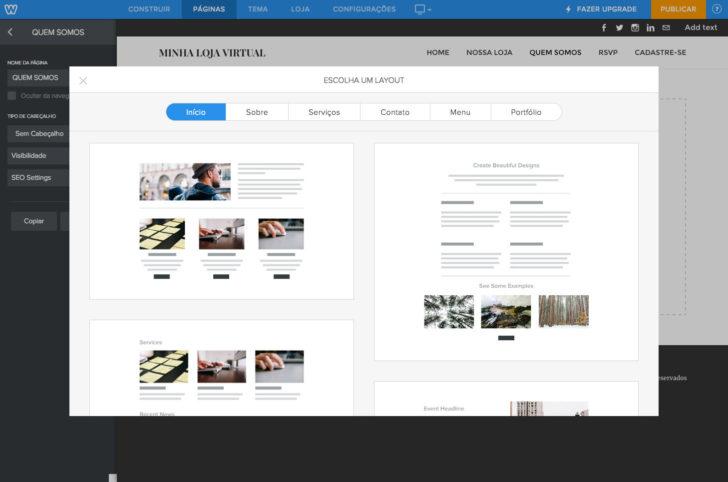 Weebly seleção layout