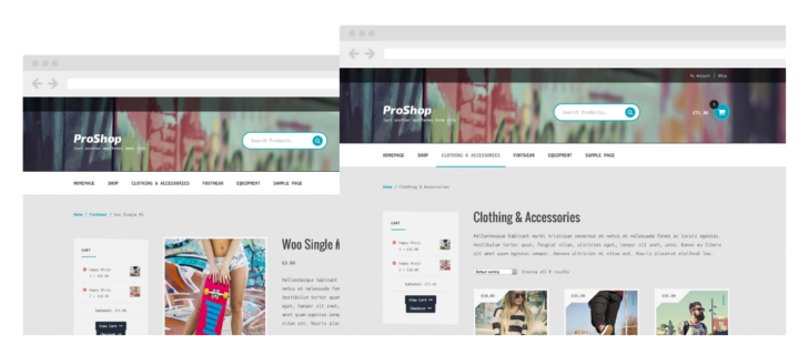 Woocommerce - Proshop storefront child theme