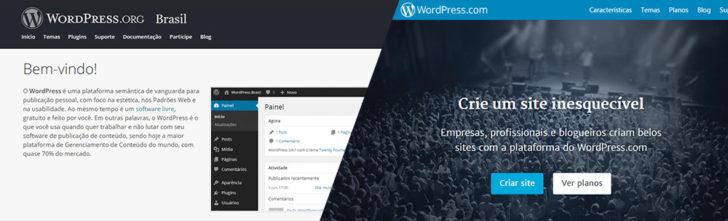 wordpress.com e .org - diferenças