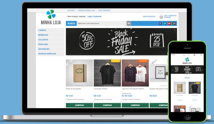 loja virtual uol host - desktop e mobile