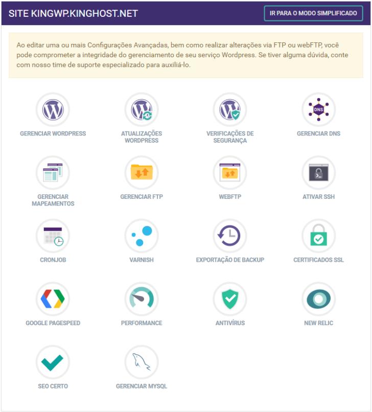 Hospedagem WordPress - modo avançado