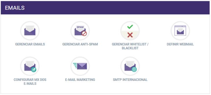 Gerenciamento de contas de e-mail
