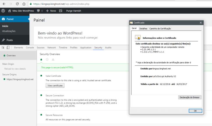 WordPress KingHost - certificado SSL