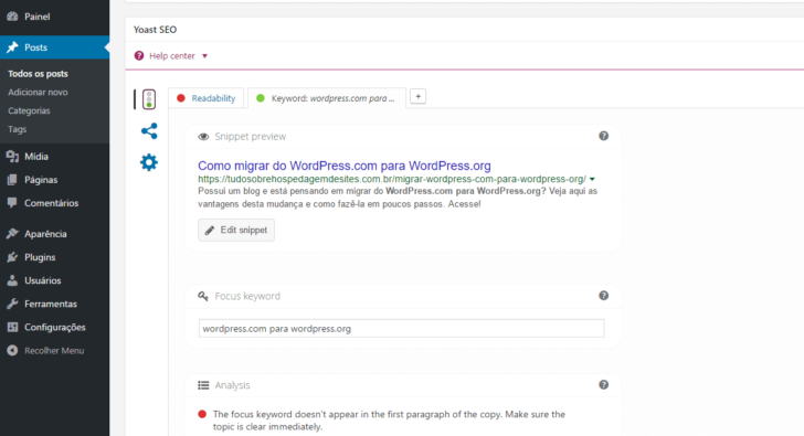 WordPress.org - Detalhe do plugin Yoast SEO