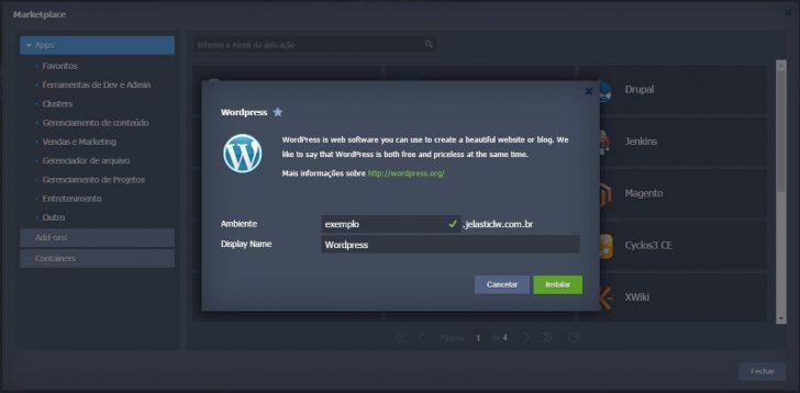 Jelastic cloud instalação WordPress