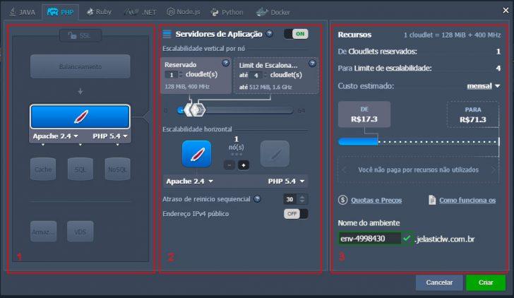 Jelastic Cloud - Configurando ambiente 03