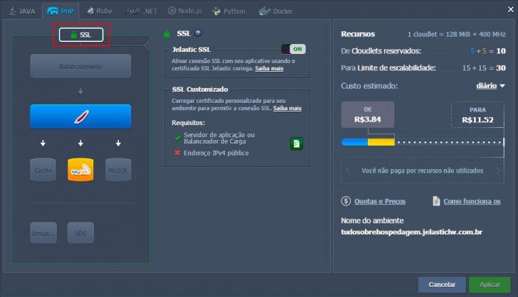 Jelastic Cloud - Configurando ambiente 26
