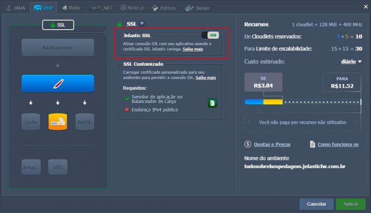 Jelastic Cloud - Configurando ambiente 27