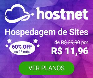 Hostnet promoção hospedagem
