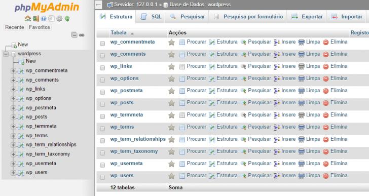 PHPMyAdmin importação com sucesso