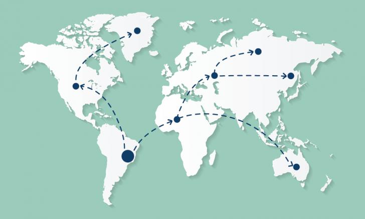 Representação gráfica da propagação de DNS