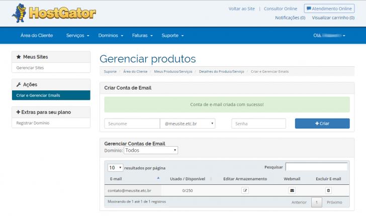 Hospedagem WordPress HostGator: gerenciamento de e-mails
