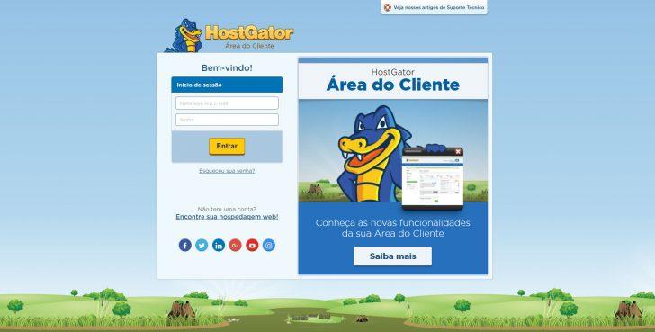 Painel de cliente HostGator
