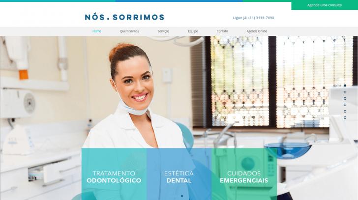 Tema Wix para site de consultório dentário