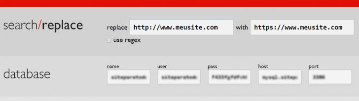 Substituição das URLs no banco de dados