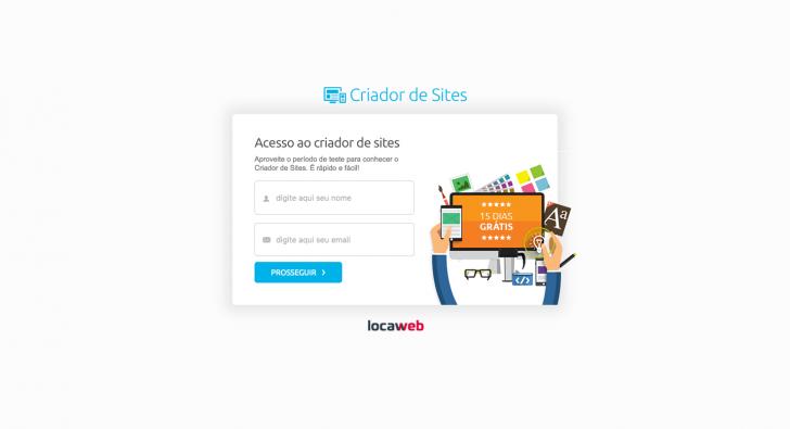 Teste grátis criador de sites Locaweb