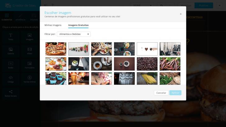 Banco de imagens Criador de Sites Locaweb