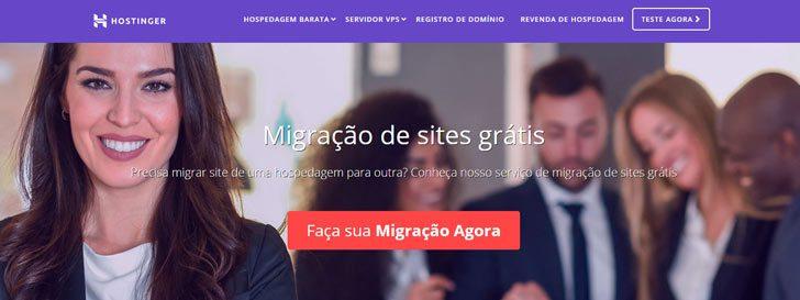 migração gratuita Hostinger