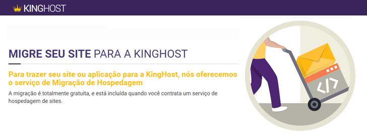 Migração de hospedagem gratuita KingHost