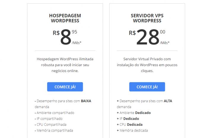 Hospedagem WordPress WebLink