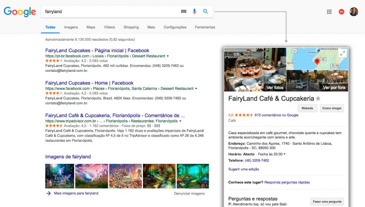 Resultado pesquisa Google