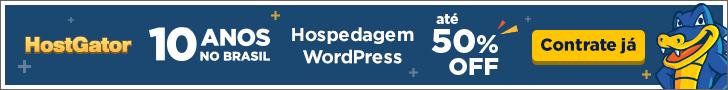 Hospedagem WordPress com 50% de desconto na promoção de aniversário da HostGator Brasil