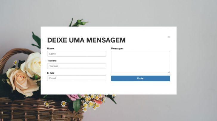 Formulário de contato do Página Fácil